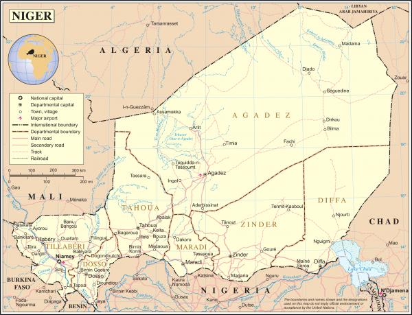 Quelle: http://www.beta.weltkarte.com/afrika/niger/politische-landkarte-niger.htm